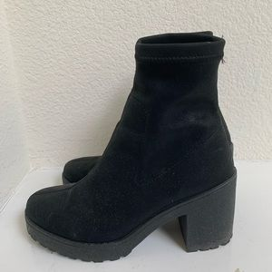 Urban Outfitter Black Sock Booties